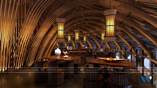 Nội thất nhà hàng Rộc Vòn - Vai Réo